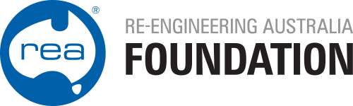 RE-ENGINEERING AUSTRALIA FOUNDATION Logo